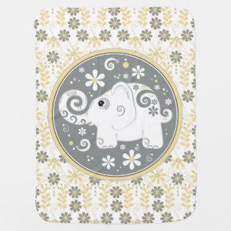 De Gele Grijze Margriet van de olifant Bloemen Inbakerdoek