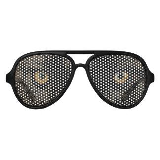De gele Grijze Ogen van de Wolf - het Wild Aviator Zonnebril
