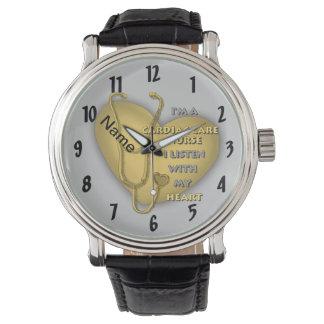 De gele HartVerpleegster van de Zorg Horloges