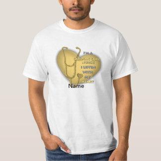De gele HartVerpleegster van de Zorg Shirt