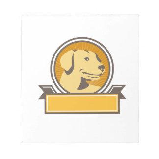De gele Hoofd Retro Cirkel van het Golden Notitieblok