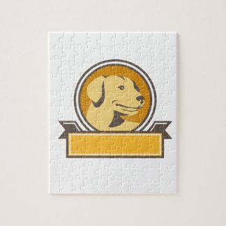 De gele Hoofd Retro Cirkel van het Golden Puzzel