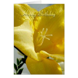 De gele Kaart van de Verjaardag van de Fresia