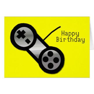 De gele Kaart van de Verjaardag van het Gokken