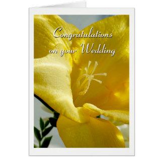 De gele Kaart van het Huwelijk van de Fresia