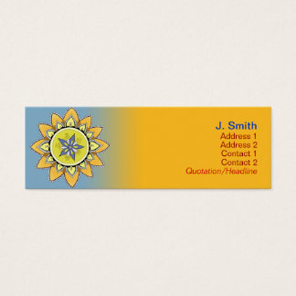 De gele Kaarten van het Profiel van Lotus Mini Visitekaartjes