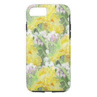 De gele Lange Gebaarde Waterverf van de Iris iPhone 8/7 Hoesje