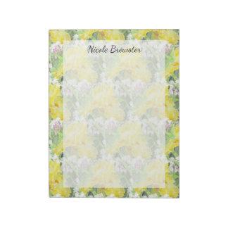 De gele Lange Gebaarde Waterverf van de Iris Notitieblok