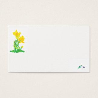 De Gele narcissen van het Adreskaartje