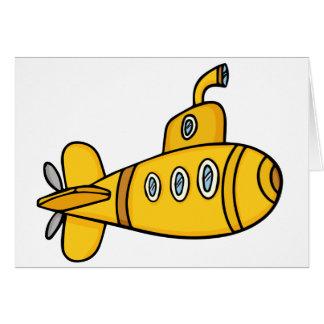 De gele Onderzeeër van de Cartoon Kaart