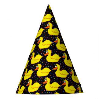 De gele Petten van de Partij van de Eend Feesthoedjes