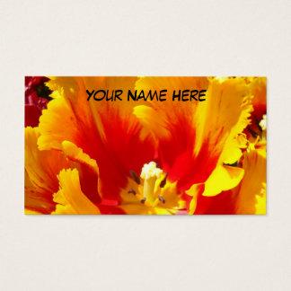 De gele Rode Unieke Bloem van de Tulp van Visitekaartjes