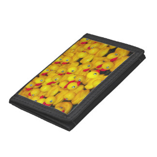 De gele rubberportefeuille van de duckiesdruk