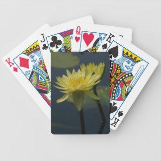 De gele Speelkaarten van Lotus Waterlilies Pak Kaarten