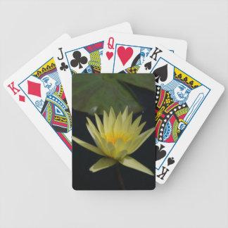 De gele Speelkaarten van Lotus Waterlily Bicycle Speelkaarten