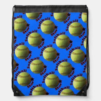 De gele Ster van het Softball Rugzakje