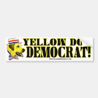 De gele Sticker van de Bumper van de Democraat van Bumpersticker