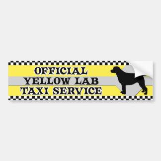 De gele Sticker van de Bumper van de Dienst van de Bumpersticker