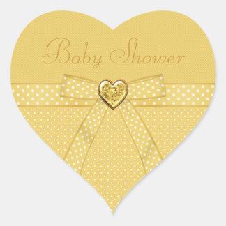 De gele Stickers van het Baby shower van het