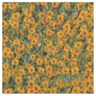 De gele Stof van het Patroon van de Bloem