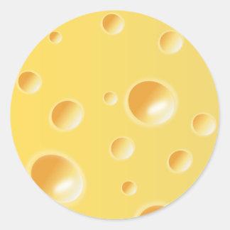 De gele Textuur van de Emmentaler Ronde Stickers