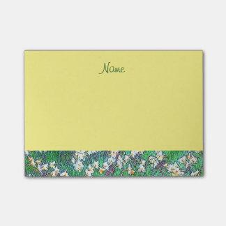 De gele Tuin van de Bloem van de Lente Post-it® Notes