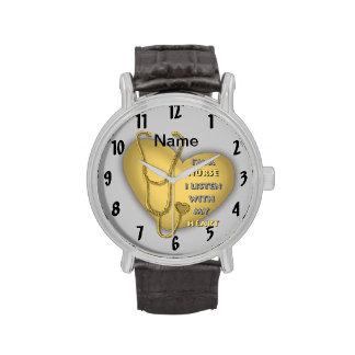 De gele Verpleegster van het Hart Horloge