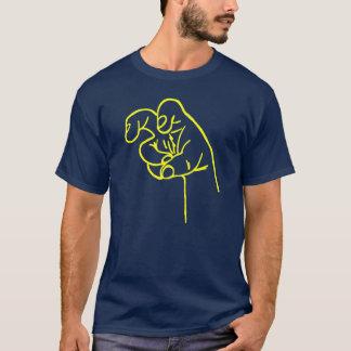 De gele Vingers van de Hoektand T Shirt