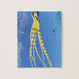 De gele Vlieger van de Octopus Puzzels