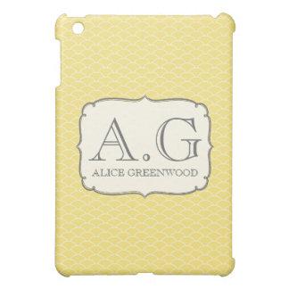 De gele Witte MiniDekking van het Monogram IPAD iPad Mini Case