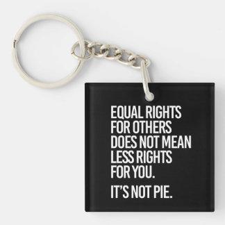 De gelijke Rechten zijn geen Pastei - - Sleutelhanger