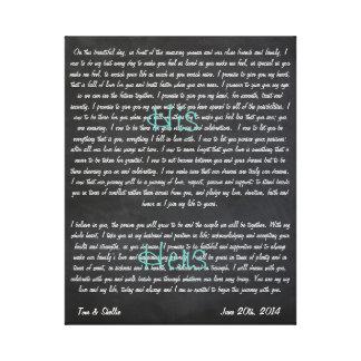 De Geloften van het Huwelijk van de douane op Canvas Print