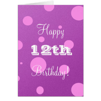 De gelukkige 12de Kaart van de Verjaardag voor