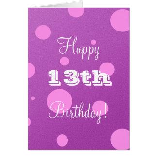 De gelukkige 13de Kaart van de Verjaardag voor