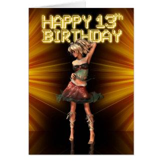 De gelukkige 13de Tiener van de Verjaardag Briefkaarten 0