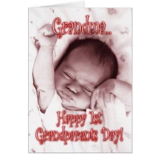 De gelukkige 1st Oma van de Dag van Grootouders - Kaart