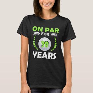 De gelukkige 38ste T-shirt van de Verjaardag voor