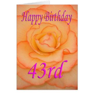 De gelukkige 43ste Bloem van de Verjaardag Kaart