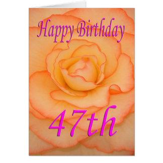 De gelukkige 47ste Bloem van de Verjaardag Kaart