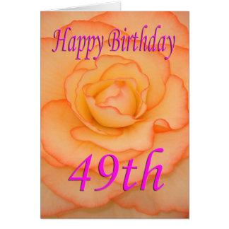 De gelukkige 49ste Bloem van de Verjaardag Kaart