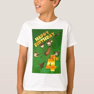 De gelukkige 4de Banaan van de Aap van de T Shirt