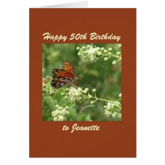De gelukkige 50ste Douane van de Vlinder van het Briefkaarten 0