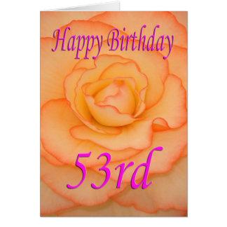 De gelukkige 53ste Bloem van de Verjaardag Briefkaarten 0