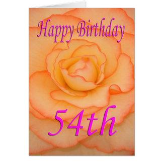 De gelukkige 54ste Bloem van de Verjaardag Kaart