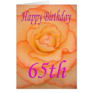 De gelukkige 65ste Bloem van de Verjaardag Briefkaarten 0