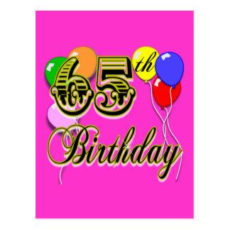 De gelukkige 65ste Koopwaar van de Verjaardag Briefkaart
