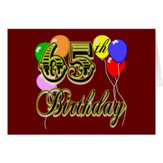 De gelukkige 65ste Koopwaar van de Verjaardag Wenskaart