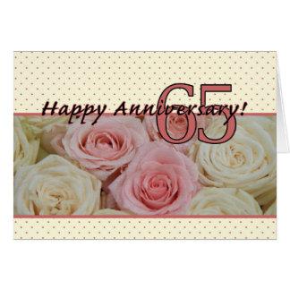De gelukkige 65ste rozen van het Jubileum Wenskaart