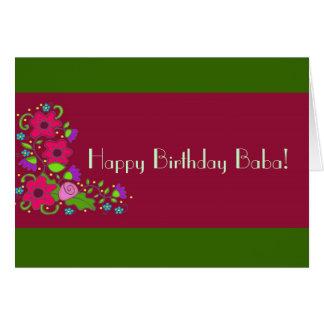 De gelukkige Baba van de Verjaardag! Briefkaarten 0