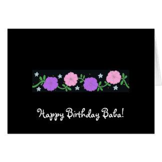 De gelukkige Baba van de Verjaardag! Wenskaart